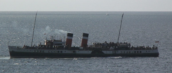 WAVERLEY is the last sea-going paddle steamer in the world